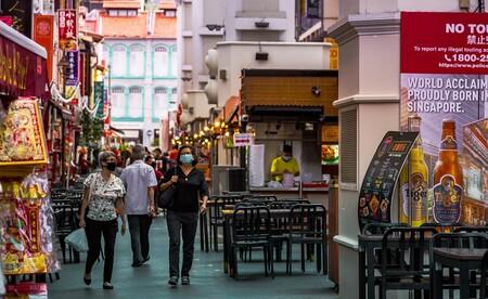 Calles de Singapur durante la pandemia.