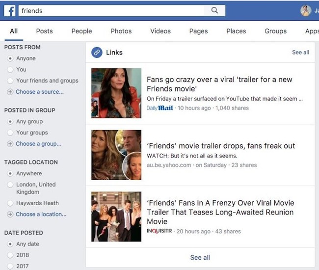 Friends Facebook