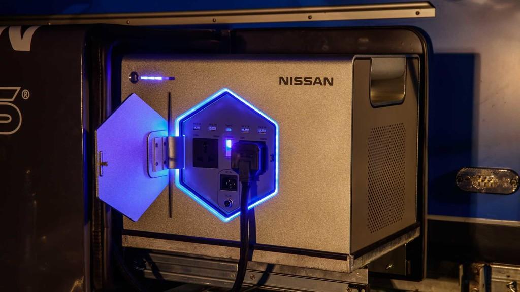 Permalink to Así es Nissan Roam, una fuente de energía basada en baterías recicladas del Leaf pensada para alimentar remolques para acampar