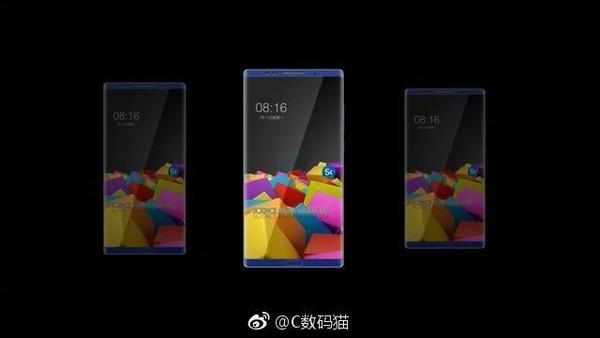 Xiaomi Mi Note tres Render