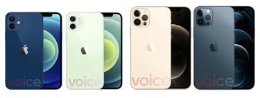 Así lucen todos los modelos de iPhone 12 y sus colores negro, azul, verde, rojo y blanco tras una filtración de Evan Blass