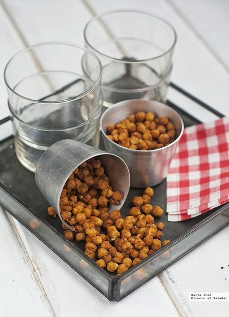 Snacks de garbanzos especiados