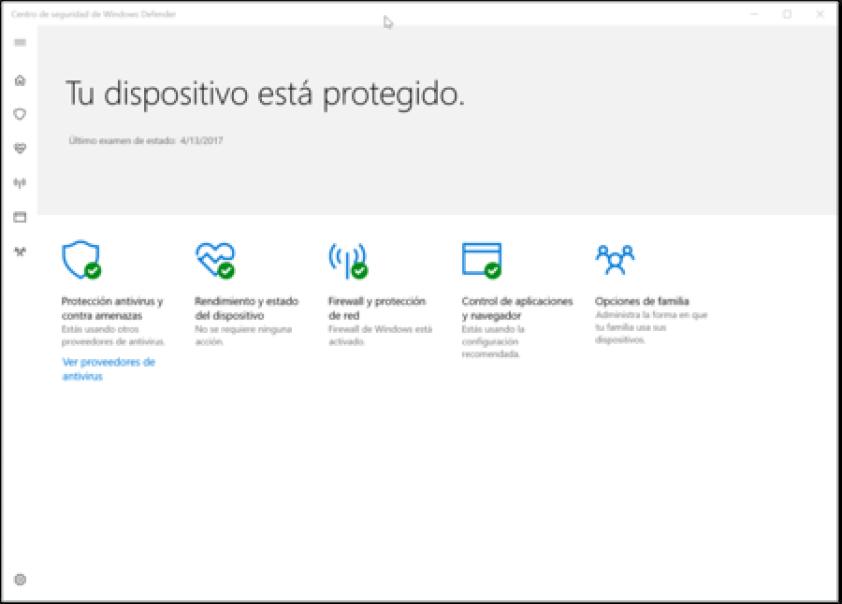 Centro De Seguridad De Windows Defender