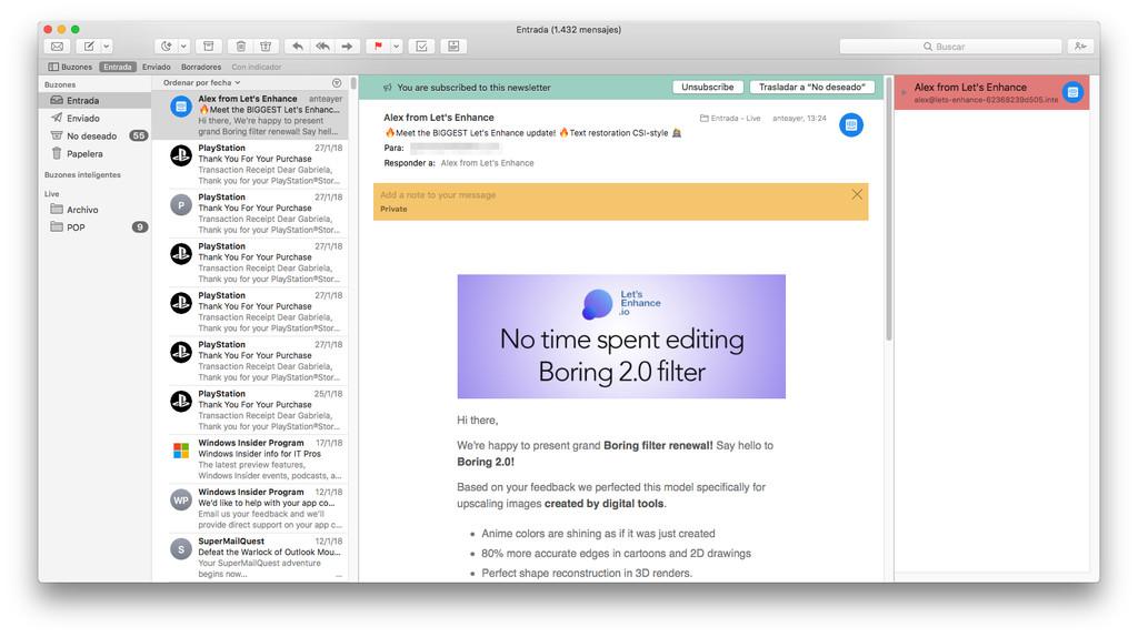Apple Mail Con Mailbutler