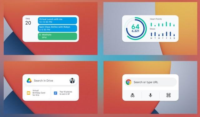 Google anuncia nuevos widgets para iOS: Gmail, Drive, Fit, Calendar y Chrome