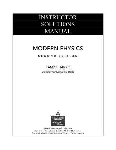 MODERN PHYSICS KRANE SOLUTION MANUAL Auto Electrical