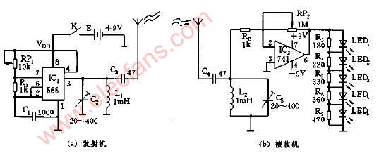 Circuit diagram of car search device