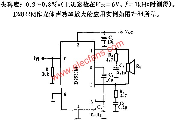 Application of dual channel audio power amplifier circuit