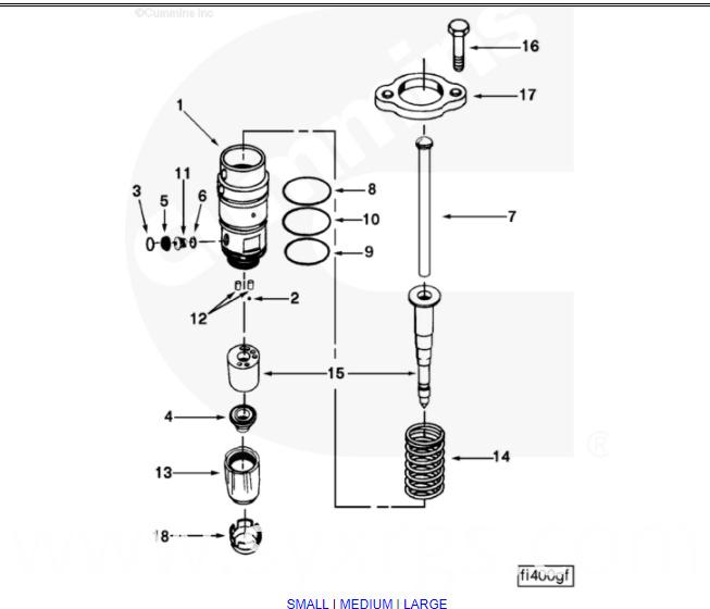 Cummins V28 PT Injector 3058849 China Manufacturer