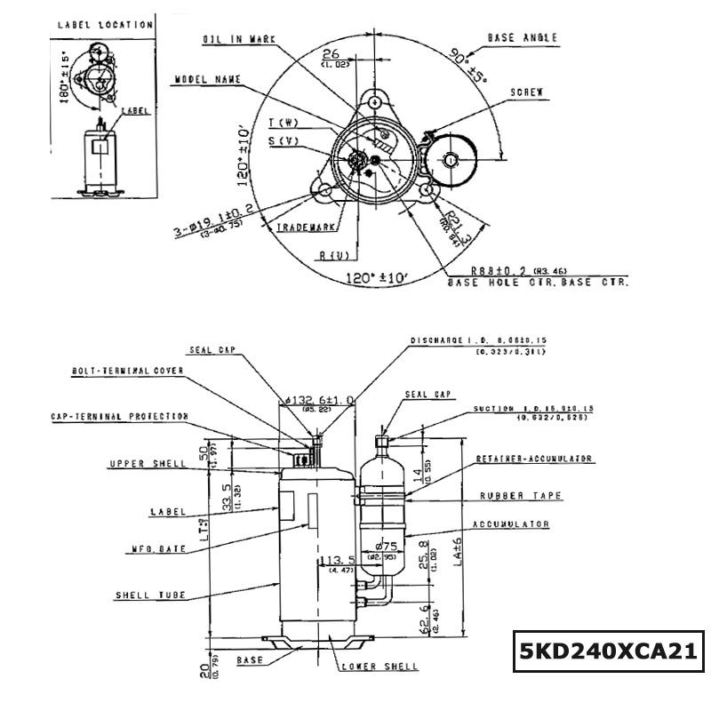 Panasonic DC Compressor R410A Rotary Compressor DC