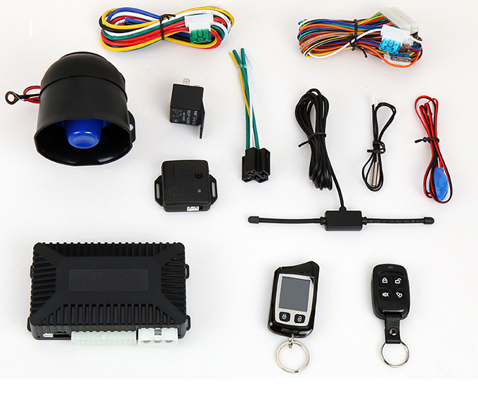 Kina 2 Way Pager Car Alarm System Remote Engine Start