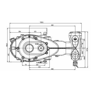 Low Price Jetting Pump Car Wash Gearbox Pump China