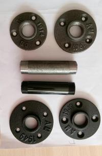 """China Malleable Iron Pipe Fittings Floor Flange 3/4"""" BSP"""