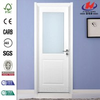 China Solid Wood Half View 2-Panel Glass Interior Door ...