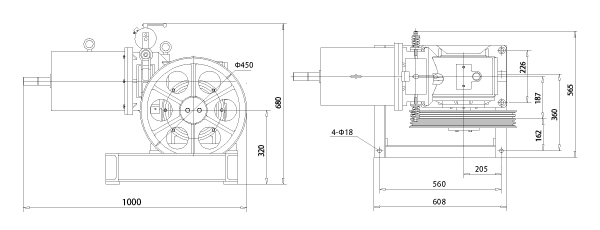 Elevator Geared Traction Machine-YJ125 China Manufacturer