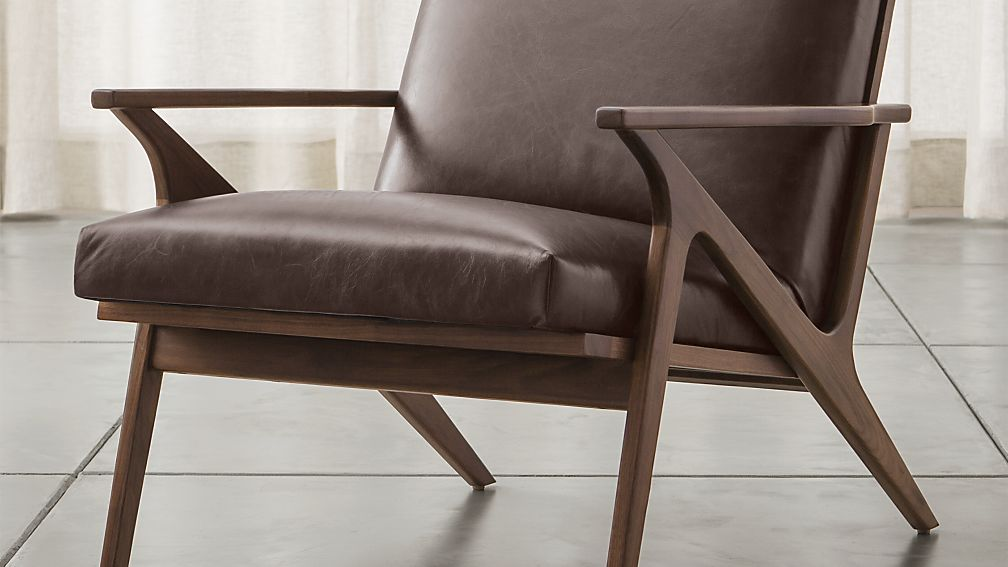 Cavett Leather Chair  Crate and Barrel