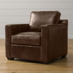 Davis Leather Twin Sleeper Sofa Flexsteel Bay Bridge Price Chair - Cashew | Crate And Barrel
