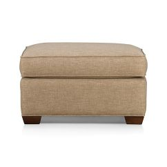 Axis Sofa Reviews Leather Sectionals With Chaise Davis Ottoman In Collection | Crate And Barrel