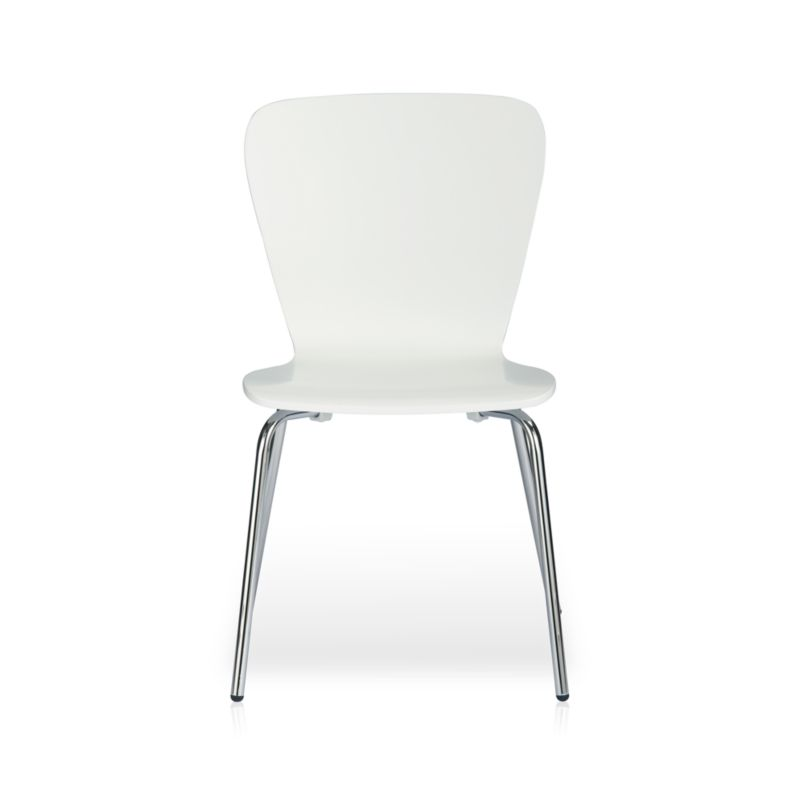 Felix White Dining Chair in Dining Chairs  Crate and Barrel