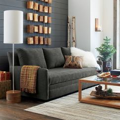 Crate And Barrel Sofa Sleeper Review Convertible Leather Ellyson Queen - Gunsmoke |
