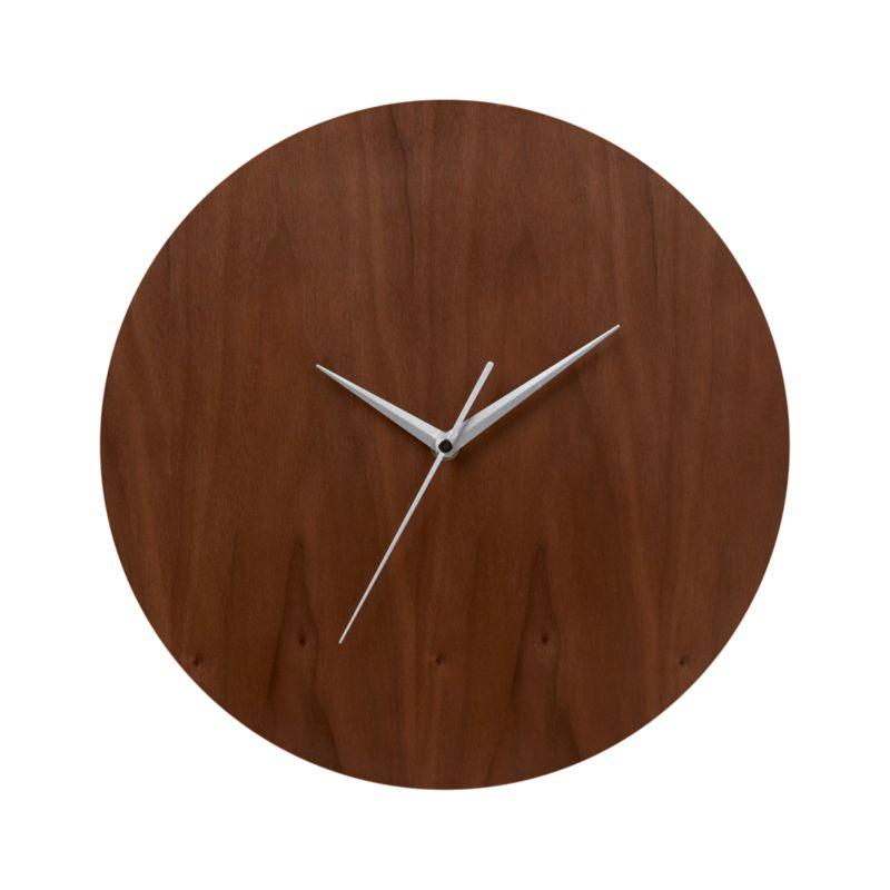 Walnut 13 Wall Clock Crate And Barrel