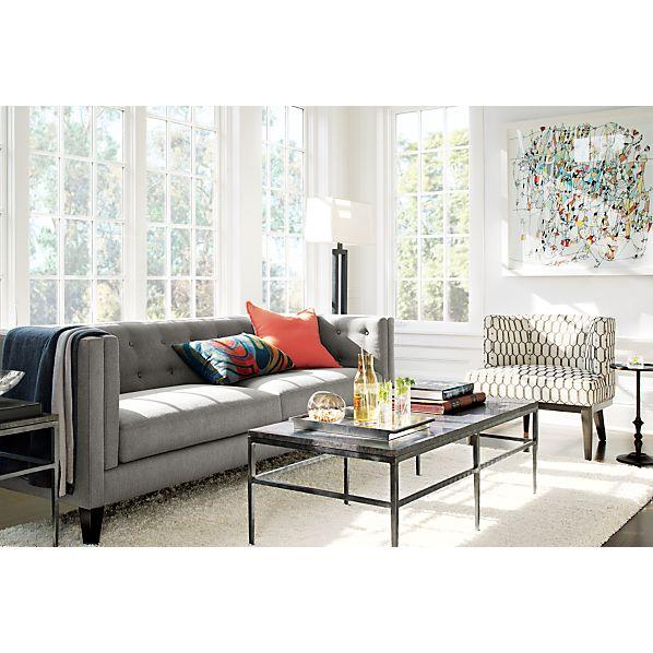 clara chair crate and barrel ikea white leather aidan sofa |