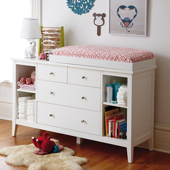 Blake 2Over2 Drawer White Changing Table  The Land of Nod