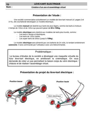 Calamo Leve Kart Conception Axe Liaison Pivot