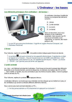 Comment Taper Un Texte Sur L'ordinateur : comment, taper, texte, l'ordinateur, Calaméo, Cours, Clavier, Souris, Partie