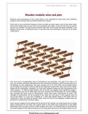 how to make wooden modular wine rack