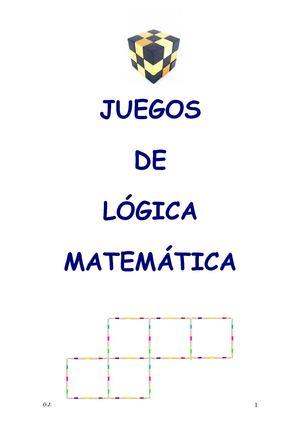 Calaméo  Juegos De LÓgica MatemÁtica