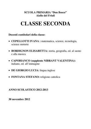 Calamo  classe seconda