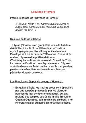 Résumé L Odyssée D Homère : résumé, odyssée, homère, Calaméo, Ulysse, L'Odyssée, D'Homère.