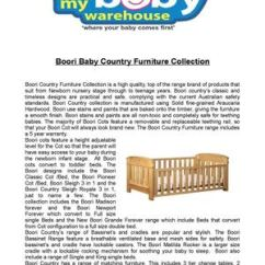 Boori Country Collection Madison 3 In 1 Cot Bed Sofa How Much Does It Cost To Recover A Uk Calameo Baby Furniture