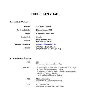 Ejemplo De Un Curriculum Vitae Guatemalteco Business Analyst