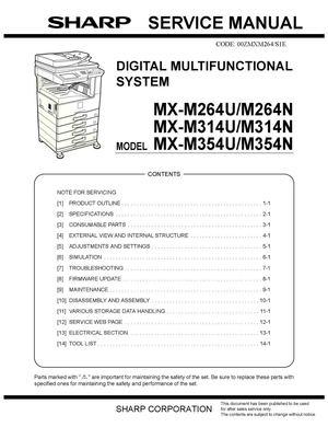 Thermistor Wiring Diagram Calam 233 O Service Manual Sharp Mx M264n M314n M354n Sme
