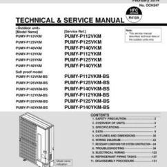 Electric Heat Wiring Diagram Fluid Mosaic Model Calaméo - Mitsubishi Pumy-p Vkm / Ykm Service Manual