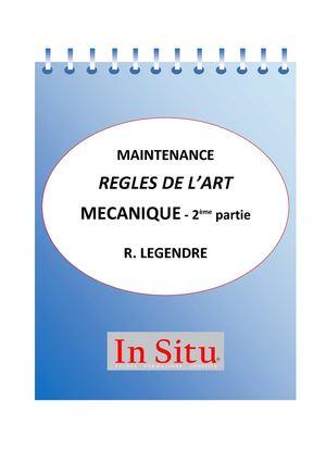 Dans Les Règles De L Art : règles, Calaméo, Carnet, MAINTENANCE, MECANIQUE, REGLES, L'ART, Robert, Legendre