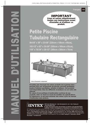Calamo  Notice de montage piscine tubulaire Intex Metal