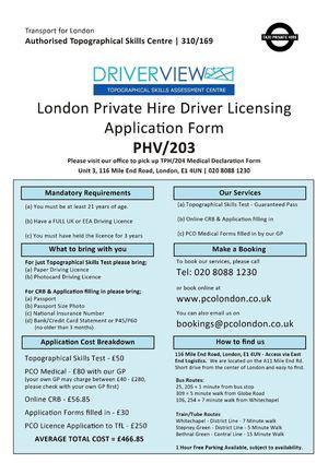 Calaméo - PCO Licence Application Form PHV/203