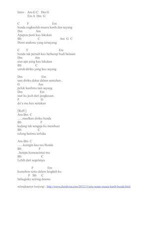 Kunci Lagu Muara Kasih Bunda : kunci, muara, kasih, bunda, Calaméo, Chord, Muara, Kasih, Bunda, Suzan