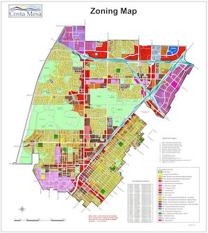 Calamo  City Of Costa Mesa Zoning Map 2017