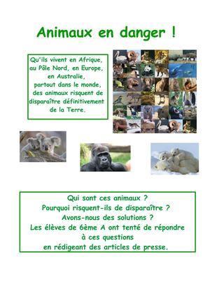Animal En Voie De Disparition : animal, disparition, Calaméo, Livret, Animaux, Disparition