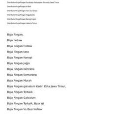 Distributor Baja Ringan Taso Jakarta Calameo Surabaya Tlp 0821 3233 9545