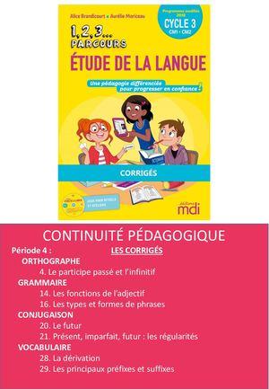 Je Reviendrais Vers Vous Orthographe : reviendrais, orthographe, Calaméo, 1,2,3, Parcours, Etude, Langue, Corrigés