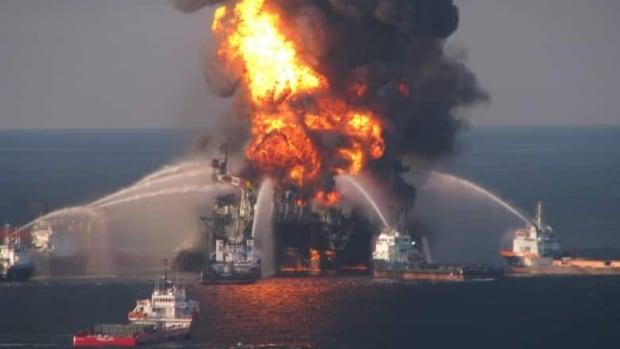 A explosion at British Petroleum's Deepwater Horizon offshore rig on April 20 killed 11 workers.