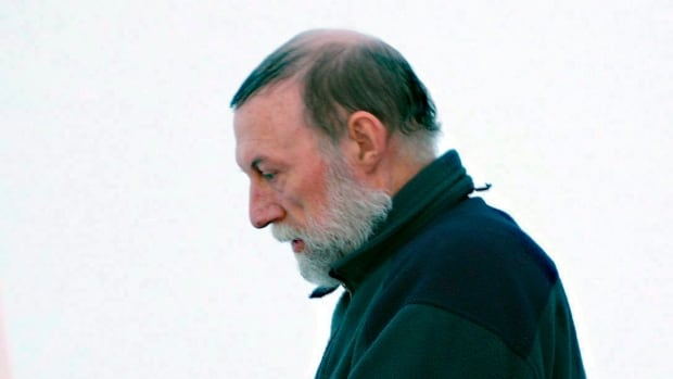 Eric Dejaeger leaves the Iqaluit courthouse in 2011. The former priest, who was convicted last year of 32 counts of child sexual abuse, is scheduled to be sentenced Wednesday.
