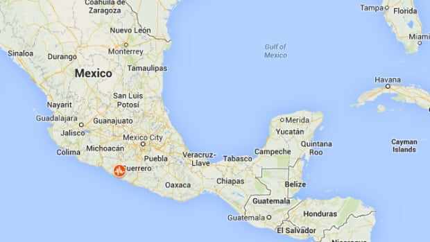 The earthquake's epicentre was in Guerrero state, northwest of the Pacific resort town of Acapulco, where many Mexicans are currently spending the Easter long weekend.