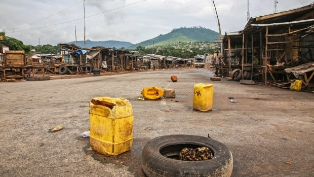 More than six million people are currently under lockdown in Sierra Leone, leaving normally bustling markets and streets empty.