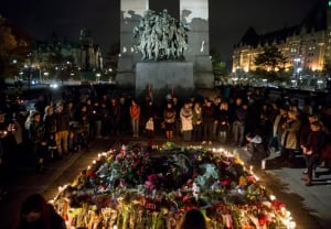 Ottawa Shooting Vigil 20141025 Oct 25 Tomb of Unknown Soldier memorial